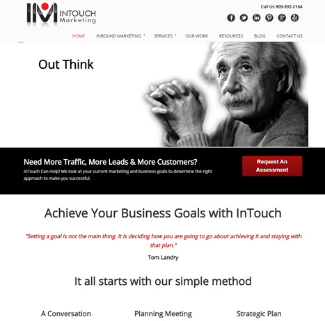 Intouch-marketing-mobile optimized website