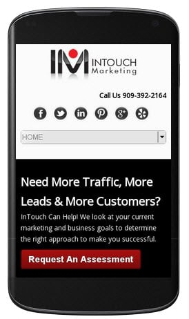 intouch-marketing mobile optimized website