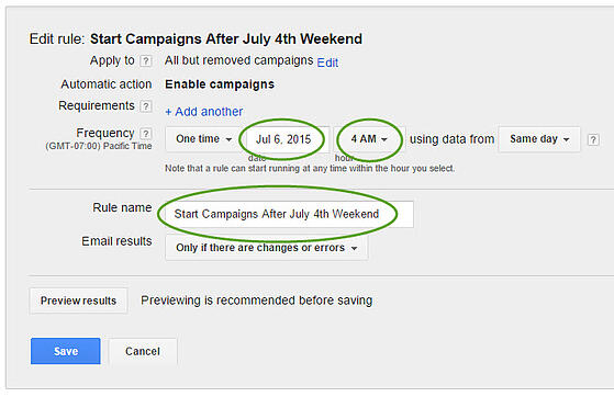 how to pause your adwords campaigns during the holidays