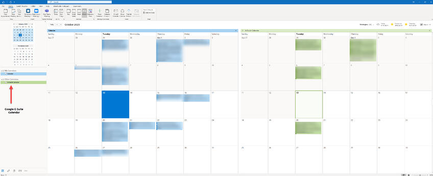 G Suite Calendar in Outlook